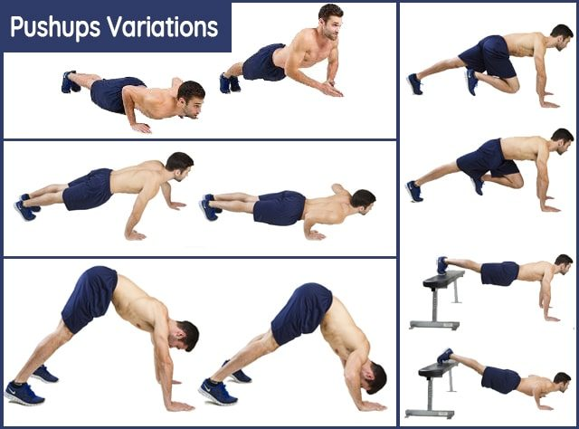 Pushups Variations