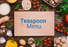 Teaspoon menu