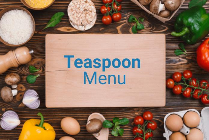 Teaspoon menu