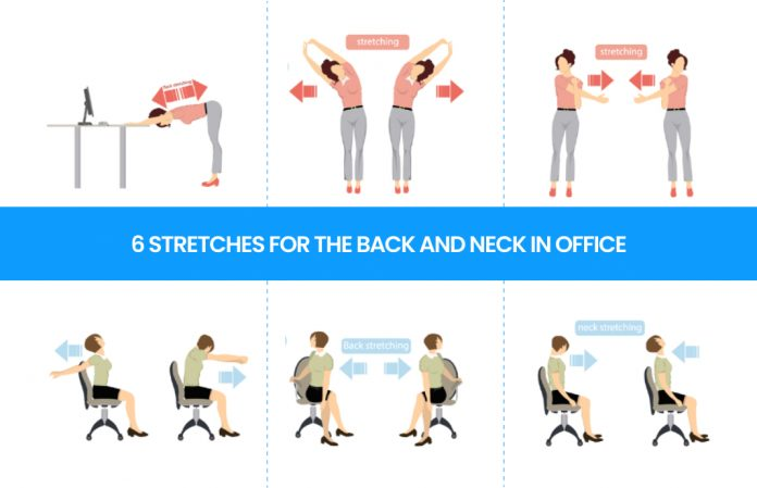 6 Great Stretches for the Back and Neck in the Office